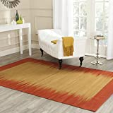 Safavieh Kilim Collection KLM947A Hand Woven Rust Premium Wool Area Rug (6′ x 9′)