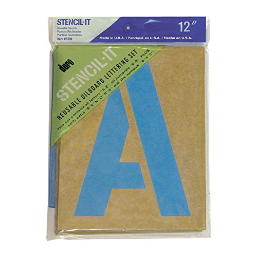 - Duro Stencil-It Oil Board Stencil Set 12-Inch