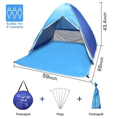 Tienda de Campa/ña Autom/ático,VicPow Anti-UV Instant/ánea Pop Up Tienda,Ligero y f/ácil instalaci/ón al aire libre Sun Shelters para 2-3 personas Camping,senderismo