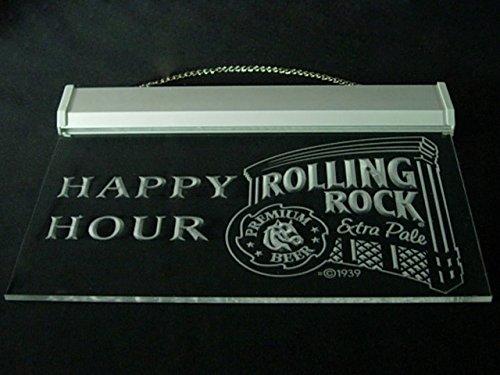 Rolling Rock Beer Happy Hour Drink Led Light Sign