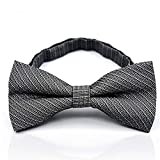 NRUTUP Mens Bow Tie Neck Clip-on Solid Color Fancy Dress Wedding Pre Tied Adjustable Hot Sales(D,Free Size)