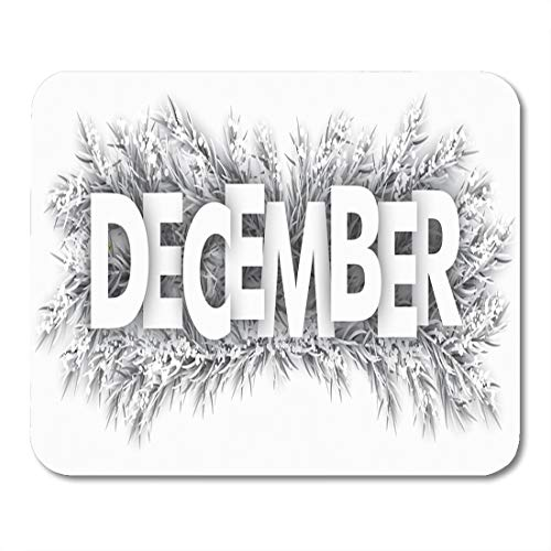 Emvency Mouse Pads White Branches Spruce Frozen Twigs The Text December 10 Mouse Pad for notebooks, Desktop Computers mats 9.5