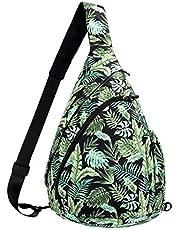 Sling Bag Backpack Shoulder Crossbody Backpack for Women & Men - Multipurpose Rope Bag Casual Daypack for Outdoor Travel Hiking Cycling (Green)