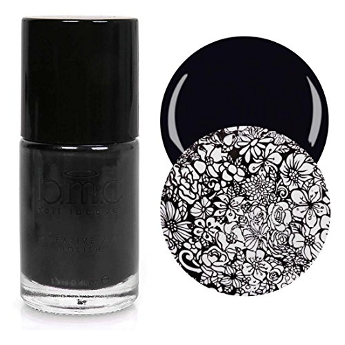 Maniology (formerly bmc) 2nd Gen Creative Nail Art Stamping Polish - Essentials: Primary, Straight Up Black