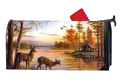 BYUII Deers In The Fall Decorative Garden Mailbox Cover Magnetic Standard by BYUII