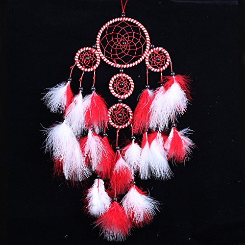Funbase Heart Dream Catcher With Fluffy Feather Car Home Decor Ornament Tribal Crafts