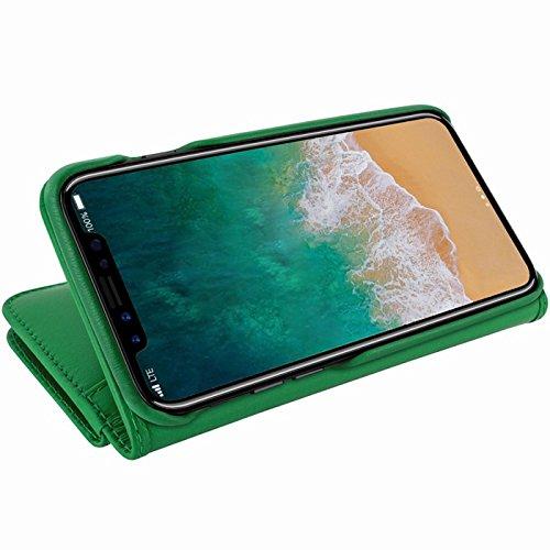 Piel Frama U793DG Case ''WalletMagnum'' for iPhone X - Green by Piel Frama (Image #3)