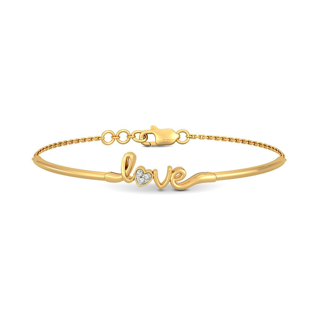 18K Yellow Gold (HallMarked), 0.03 cttw Round-Cut-Diamond (IJ| SI) identification-bracelets Size - 6 inches