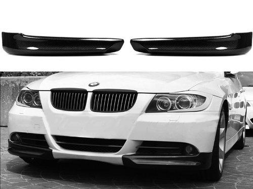 Carbon Fiber Front Bumper Splitter Lip Spoiler For BMW E90 E91 Pre-facelift