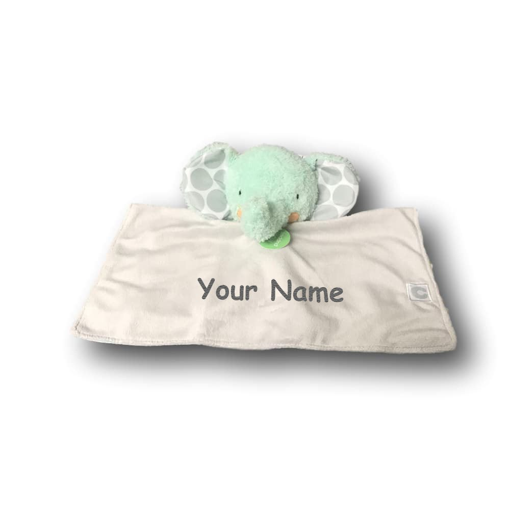 Boppy Personalized Elephant Activity Snuggle Blanket with Finger Puppet Feature