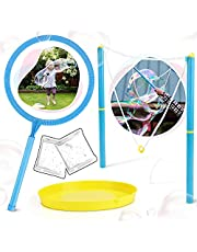 لعبة عصا الفقاعات الكبيرة من توي لايف للأطفال ، مجموعة عصا الفقاعات العملاقة بما في ذلك محلول الفقاعات والصينية وعصا الفقاعات الكبيرة تصنع فقاعات عملاقة للأطفال في الهواء الطلق وألعاب صيفية