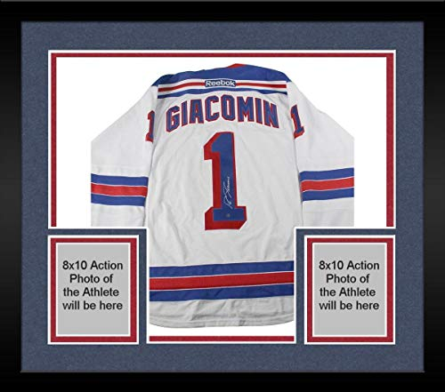 - Framed Eddie Giacomin Signed New York Rangers White Jersey - Steiner Sports Certified - Autographed NHL Jerseys