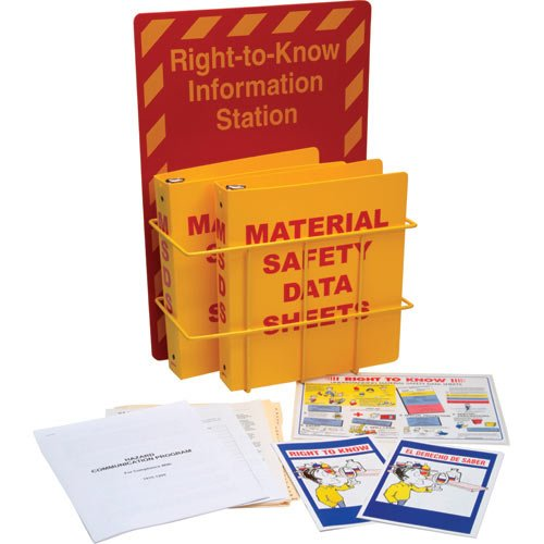 Brady 106345 Polystyrene Right to Know Compliance Center with Two Binder Inserts
