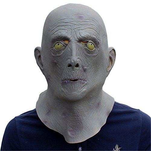 Fly Halloween Ball Birthday Party Personality Funny Film and TV Set Latex Mask mask (Color : Gray)
