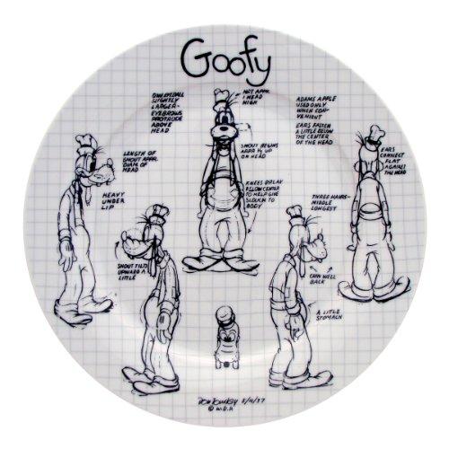Disney Sketchbook Goofy Dinner Plate, Set of 4