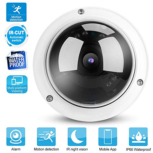 HD Dome Surveillance Video, POE IP Cameras Home Security Camera with IP66 Waterproof, Motion Detection, 15m Night Vision(1MP/3MP/5MP) (5MP IP)