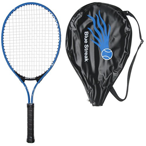 Blue Streak Junior Tennis Racquet - Strung with Cover (21