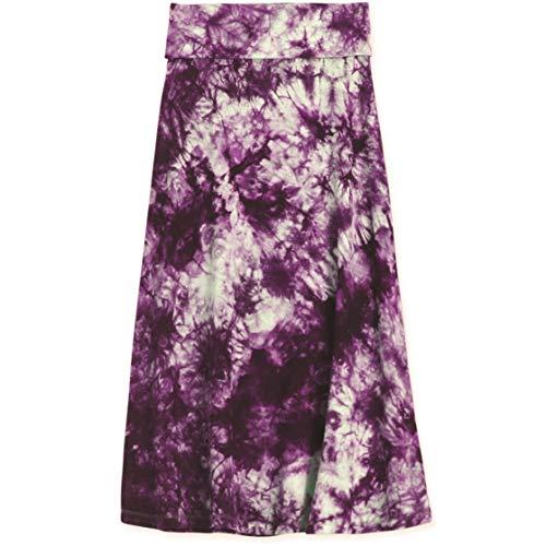 KIDPIK Skirts for Girls - Tie Dye Dewberry - M