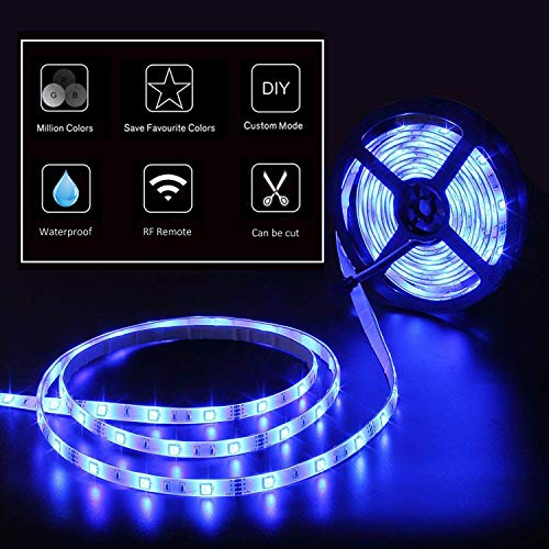 Starlotus-Led-Strip-Lights-328ft10M-300Leds-SMD5050-RGB-Waterproof-Led-Rope-Light-with-Sponge-Adhesive360Signal-44Key-RF-Wireless-Remote-ControllerDC12V-Power-Supply-for-Holiday-Party-Decoration
