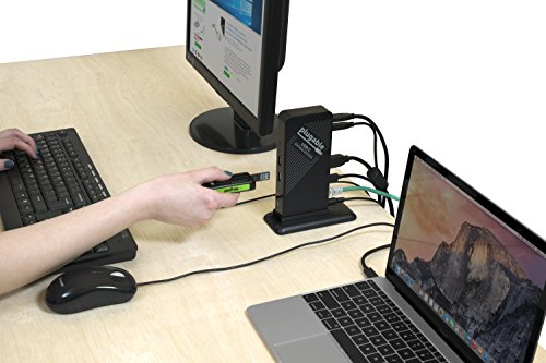 Plugable USB-C Docking Station for Specific Windows, Retina MacBook, Chromebook, and Linux USB-C and Thunderbolt 3 Systems (4K@30Hz/1080P@60Hz HDMI, 60W Charging on Supported Systems) by Plugable (Image #1)