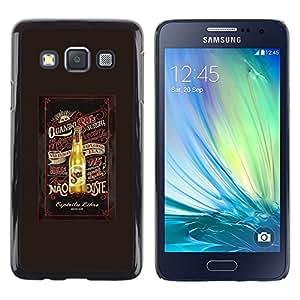 LECELL--Funda protectora / Cubierta / Piel For Samsung Galaxy A3 SM-A300 -- Beer Brown Summer Drink Bottle --