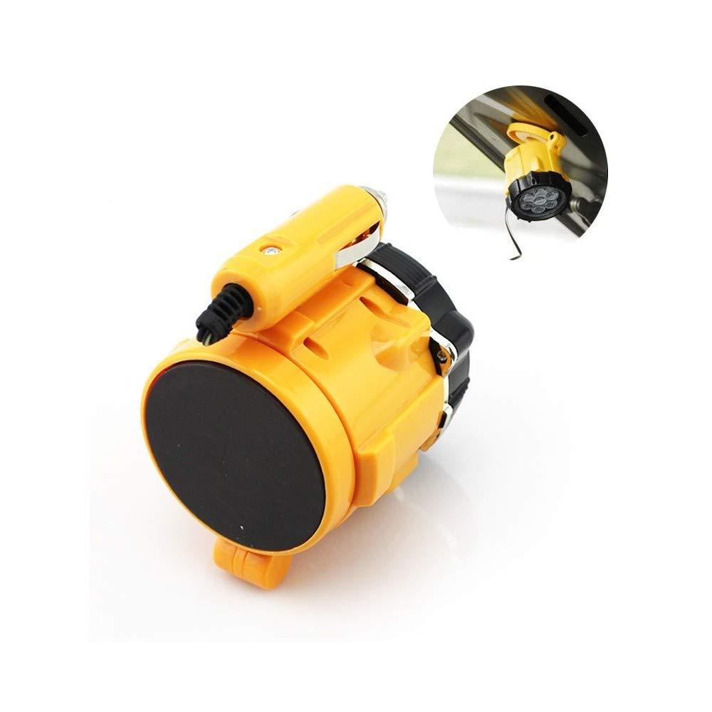 TrAdE shop Traesio Mini Lampada Torcia Emergenza 5 LED Magnetica 10W ACCENDISIGARI 12V Auto