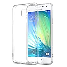 """Galaxy A3 Case, MoKo Shock Absorbing TPU Bumper Ultra Slim Clear Protective Case with Anti-Scratch Hard Back Cover for Samsung Galaxy A3 4.7 Inch (2016) - Crystal Clear (NOT FIT Galaxy A3 4.5"""" 2015)"""