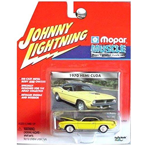 Johnny Lightning Mopar Muscle 1970 Dodge Plymouth Hemi Cuda Yellow 1970 Plymouth Hemi Cuda