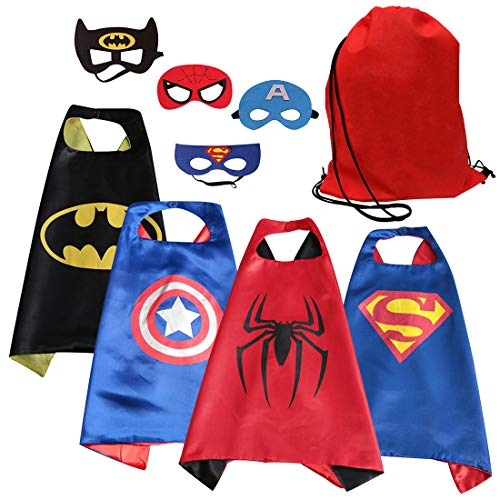 Asgift Cape and Mask Set of 4 Different