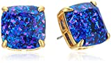 kate spade new york Small Square Studs Blue Multi-Glitter Stud Earrings