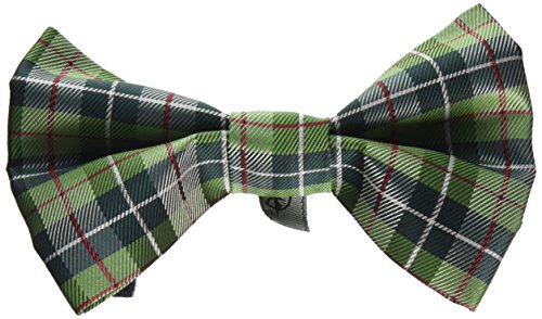 Tino's Dog Couture Finn Removable Bowtie, Large, Green (Removable Bow)