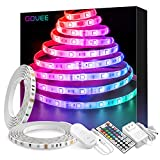 Govee LED Strip Lights 32.8ft Waterproof Color Changing Light Strips with Remote, Bright 5050 and Multicolor RGB LED Lights for Room, Bedroom, Kitchen, Yard, Party, Christmas (Packaging May Vary): more info
