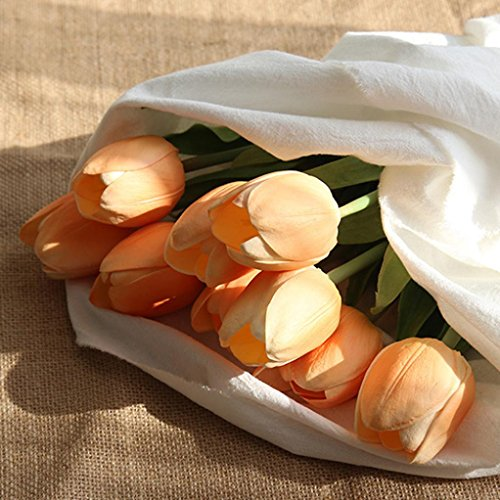 YJYdada Artificial Fake Flowers Tulip Bouquet Floral Wedding Bouquet Party Home Decor (B)
