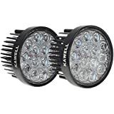 KAWELL® 2 Pack 42W 60 Degree Round LED Flood Light Off Road Lighting 12V 24V Off Road 4x4 Quad Atv Lighting