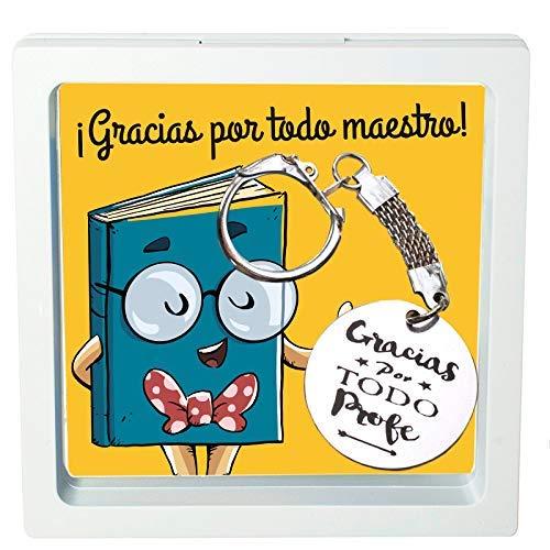 Llavero regalo para profesor con mensaje
