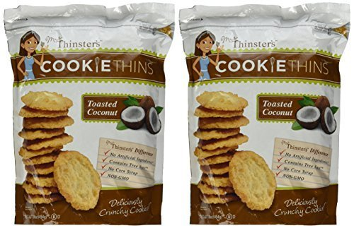 Mrs. Thinster's TOASTED COCONUT Cookie Thins 16 Oz (Pack of 12) by Mrs. Thinsters