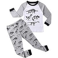 Hsctek Boys Pajamas Set, Children Long Sleepear, Kids' Cotton PJS Clothes