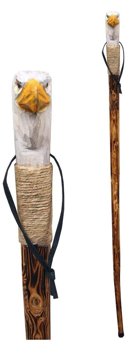 新作商品 Rustic Axentz 木製ウォーキングトレッキングハイキングポールスティック B07MVT79L8 より糸グリップ付き ゴムチップ リストストラップ ゴムチップ 46インチ Rustic 彫刻イーグル B07MVT79L8, 銀座ランプショップ:e0527490 --- a0267596.xsph.ru