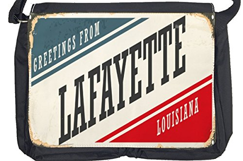 Borsa Tracolla Voglia Viaggiare Città USA Lafayette Stampato