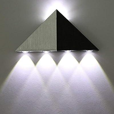 Asvert Aplique de Pared 5W LED de pared Arriba abajo Lámpara de Pared LED Interior para Dormitorio, Pasillo, Sala de Estar, Escaleras, KTV (Blanco Frío): Amazon.es: Iluminación