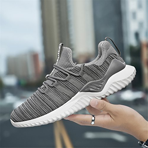 Running Outdoor Indoor Shoes White Casual Fitness Athietic Mens Sport Sneaker Grey KUBUA Black and Fashion E 5TqfnW