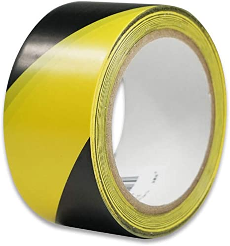 Floor Marking Tape Basketball Court Marking Tape Area Dividing Tape Badminton Court Marking Tape Color Yellow Black Amazon Ca Home Kitchen