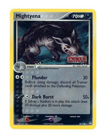 Pokemon EX Power Keepers #18 Mightyena Holofoil Card [Toy]