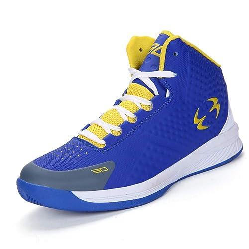 Zapatillas de Baloncesto para Hombre Zapatillas de Deporte de Alta Resistencia con amortiguación Superior Antideslizante al Aire Libre, cómodas y ...