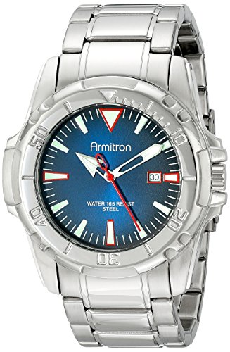 Armitron Men's 20/5069NVSV Date Function Degrade Dial Silver-Tone Bracelet Watch