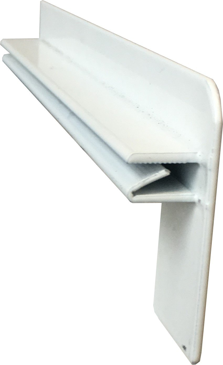 Windowsill clinker end caps 210 mm in white
