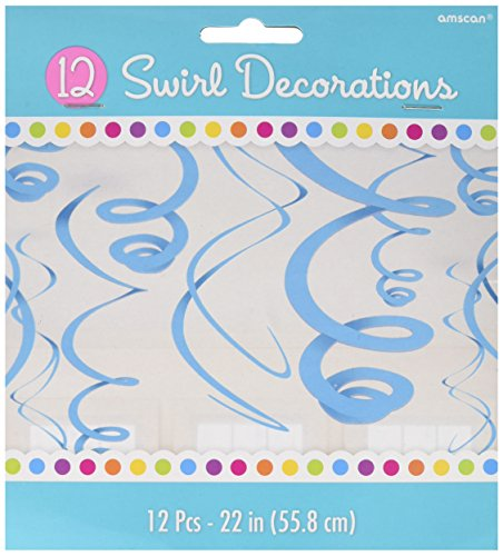 "Amscan Caribbean Plastic Swirl Decorations, 22"", 12  Ct."