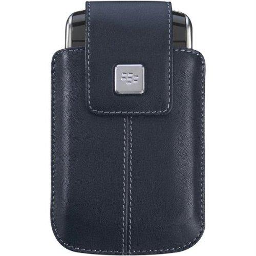 BlackBerry Leather Swivel Holster for BlackBerry Storm 9530 - Dark Blue (Leather 9500 Holster Swivel)