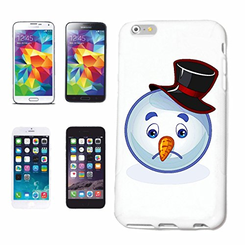 "cas de téléphone Samsung Galaxy S4 i9500 ""SAD SNOWMAN SMILEY AVEC CHAPEAU ""smile EMOTICON APP de SMILEYS SMILIES ANDROID IPHONE EMOTICONS IOS"" Hard Case Cover Téléphone Covers Smart Cover pour Samsung"