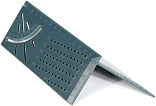 Sisit 3D-Gehrungswinkel für die Holzbearbeitung 3D-Messwerkzeug für quadratische Abmessungen Mit Messgerät und Lineal für Tags, Messen und Übertragen der Winkelmaße (A 1 PC, Schwarz)